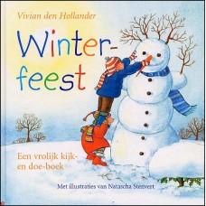 Hollander, Vivian den met ill. van Natascha Stenvert: Winterfeest, een vrolijk kijk- en doek-boek
