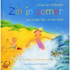 Hollander, Vivian den met ill. van Natascha Stenvert: Zin in zomer, een vrolijk kijk- en doek-boek