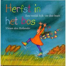 Hollander, Vivian den met ill. van Natascha Stenvert: Herfst in het bos, een vrolijk kijk- en doek-boek