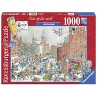 Ravensburger puzzel 1000 stukjes: Cities of the world Amsterdam winter (nieuw in seal)