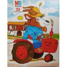 Scarry, Richard: Puzzel 25 stukjes Geit op tractor van MB