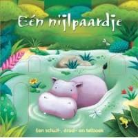 Gevry, Claudine: Een nijlpaardje en zijn vriendjes (kartonnen  schuif-, draai-en- telboek)