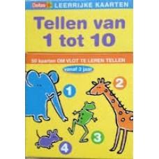 Deltas: Leerrijke kaarten, Tellen van 1 tot 10 (50 kaarten om vlot te leren tellen)