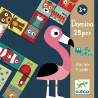 Djeco: Domino puzzel dieren