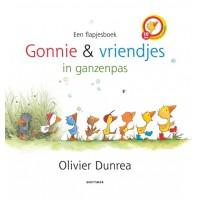 Dunrea, Olivier: Gonnie & vriendjes in ganzenpas  ( stevig kartonboek met 42 flapjes)