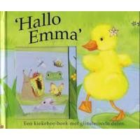 Hallo Emma een kiekboe-boek met glinsterende delen ( met schuifvakjes)