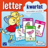 Rompompom letterkwartet met de letters van school