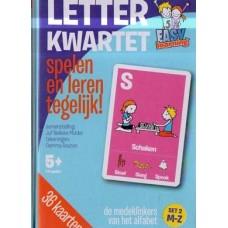 Easy learning letterkwartet: set 2 medeklinkers M tot Z