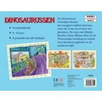 Puzzelboek Dinosaurussen 4 puzzels van 80 stukjes met een historisch verhaal