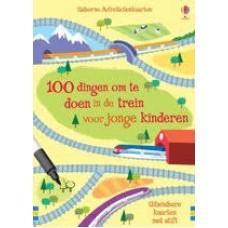 Usborne Activiteitenkaarten: 100 dingen om te doen in de trein voor jonge kinderer (50 uitwisbare kaarten met stift)