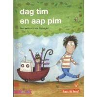 Hee, ik lees! Dag Tim en aap Pim door Riet Wille en Loes Riphagen  (avi start)