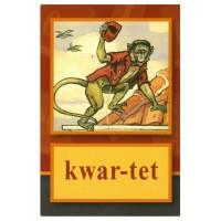 Kwar-tet: leesplankje aap-noot-mies-van Hoogeveen met ill. van Cornelis Jetses
