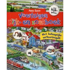 Suess, Anne: Voertuigen kijk- en zoekboek (  karton met kijkgaten met belangrijke verkeersregels)