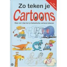Zo teken je cartoons, stap voor stap leer je fantastische cartooons tekenen ( hardcover)