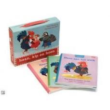 Visser, Rian en Caroline van der Pelt: Leeskoffertje Haan, kip en hoen ( 3 omkeerboekjes + werkboekje)