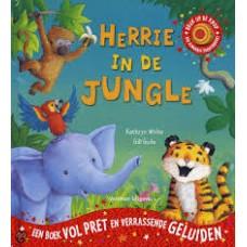 White, Kathryn en Gill Guile:Herrie in de jungle, een boek vol pret en verassende geluiden