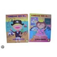 Puzzel verhalenboek: Vandaag ben ik.... ( 5 puzzels van 25 stukjes)