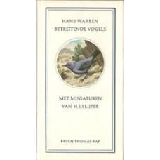 Warren, Hans met miniaturen van HJ Slijper: Betreffende vogels