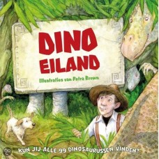 Brown, Petra: Dino Eiland (zoek- en doeboek met 99 dinosaurussen)