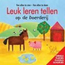 Leuk leren tellen op de boerderij ( van alles te zien van alles te doen) cirkels, flapje, puzzels schuifjes