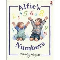 Hughes, Shirley: Alfie's numbers ( Engels kartonnen telboekje)