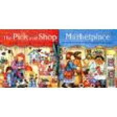 Thatcher, Fran en Ron van der Meer: Winkelen op de markt ( uitklapboek met losse figuurtjes)