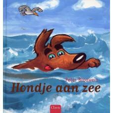 Brouwers, Peter: Hondje aan zee ( gesigneerd)