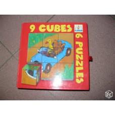 Djeco: 9 blokken puzzel/ 9 cubes