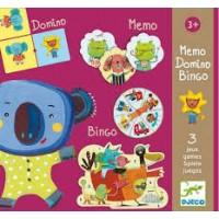 Djeco: Memo Domino Bingo (3 spelllen )