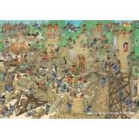 Jan van Haasteren 1000 stukjes: Kasteel conflict / middeleeuwen