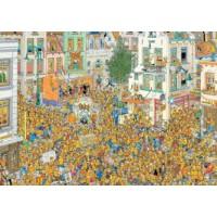 Jan van Haasteren 1000 stukjes:  De Inhuldiging / Oranje Gekte