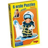 Haba 6 eerstse puzzels beroepen met houtfiguur ( nieuw in folie)