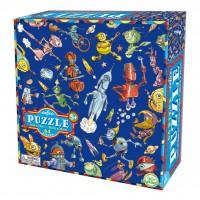 Eeboo puzzel 64 stukjes, lots of robost/heel veel robotten