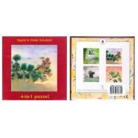 Schubert, Ingrid en Dieter: 4-in-1 puzzel ( 4x 16 stukjes)