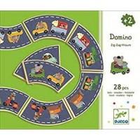 Djeco: Domino zig-zag-vroum  ( 28 houten delen)